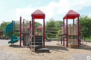 Children's play park with woodchips
